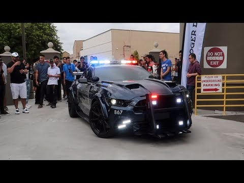 Mustang Cop Car SHUTS DOWN this SUPERCAR MEET!