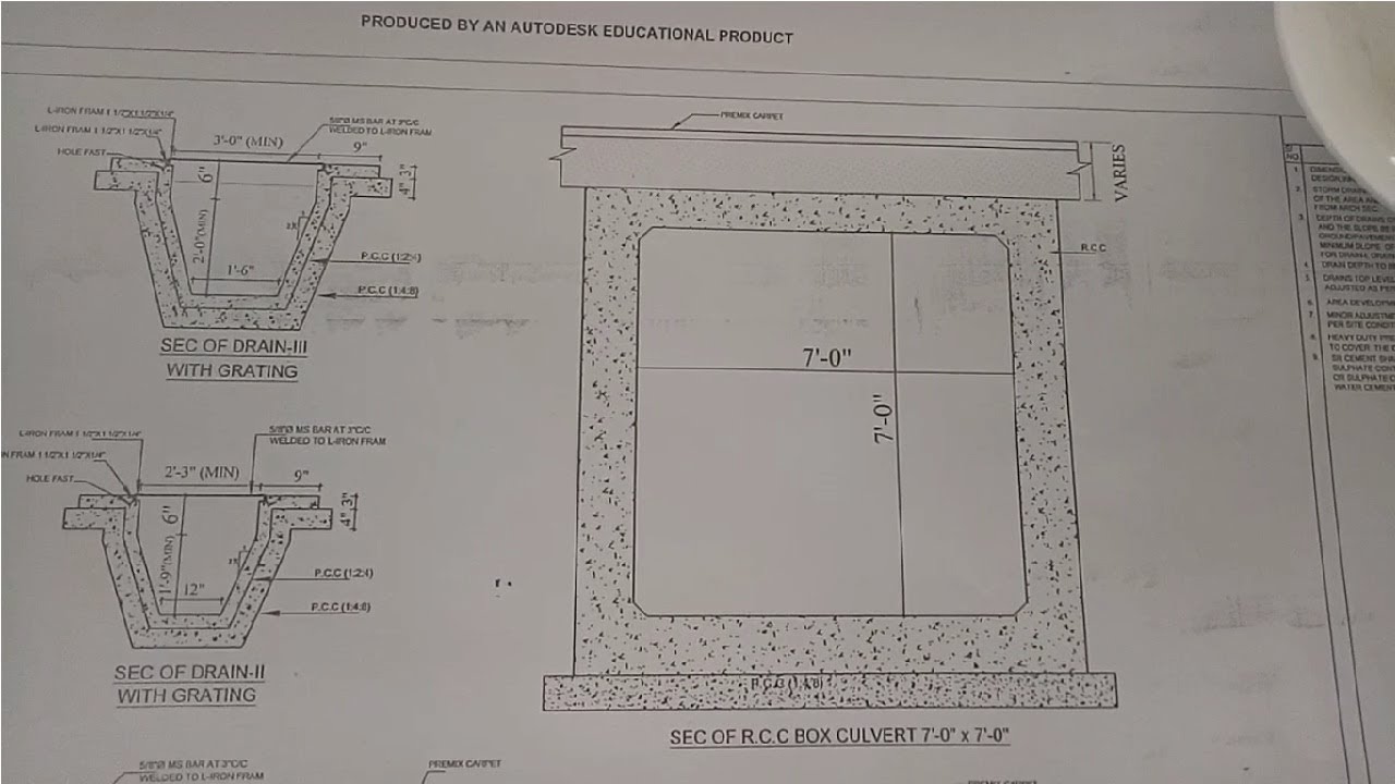 How To Read Culverts Drawing Plan At Site