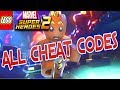 LEGO MARVEL SUPERHEROES 2 ALL CHEAT CODES!