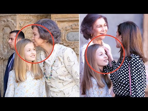 The second awkward moment between Letizia of Spain and Queen Sofia