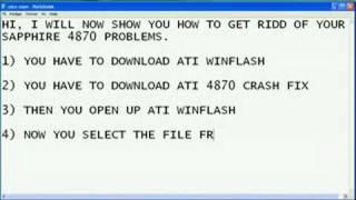 sapphire radeon 4870 crash fix
