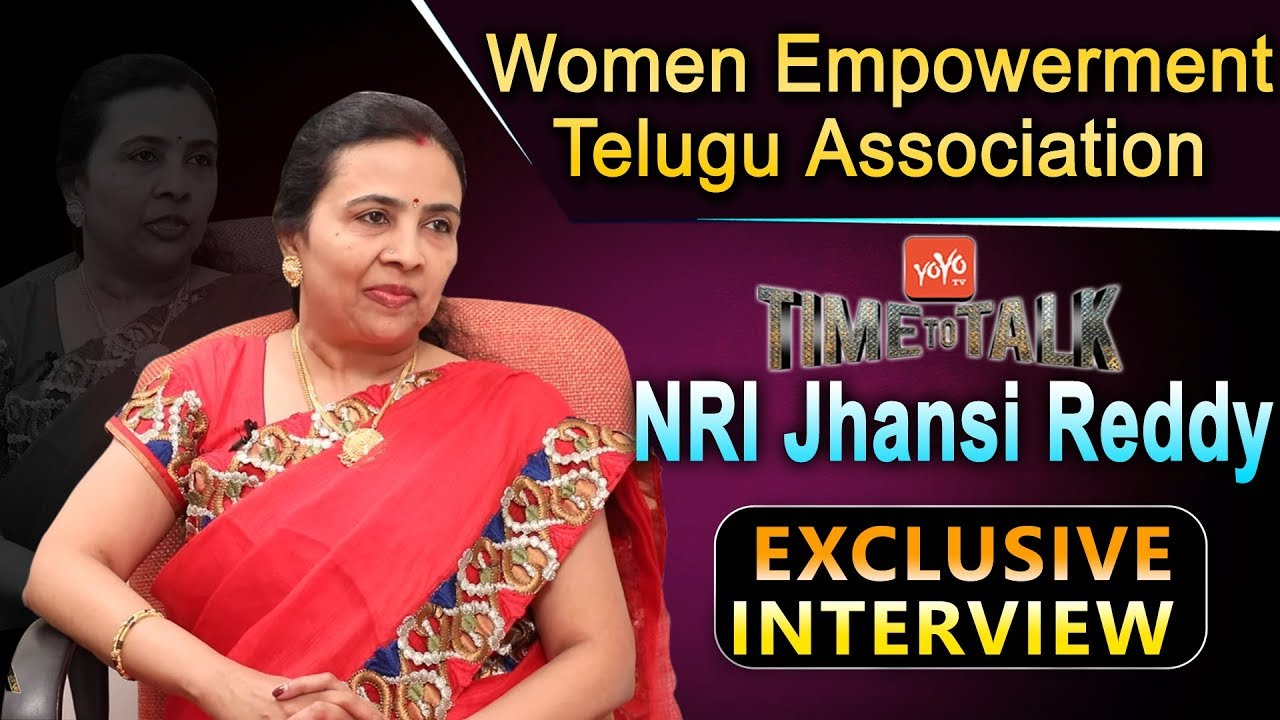 NRI Jhansi Reddy Exclusive Interview | Time to Talk | WETA Founder | TANA |  YOYO TV Interview