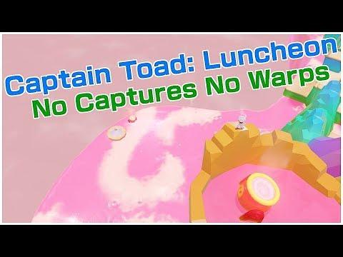 LUNCHEON CAPTAIN TOAD - NO CAPTURES, NO WARPS   Super Mario Odyssey