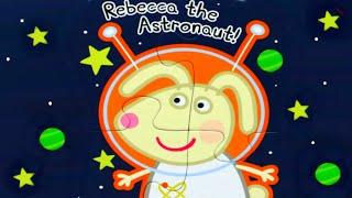 Свинка Пеппа Крольчонок Реббека Астронавт собираем пазлы для детей с героями мультика свинка пеппа