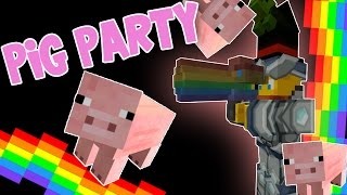 minecraft attack of the b team pig party 69