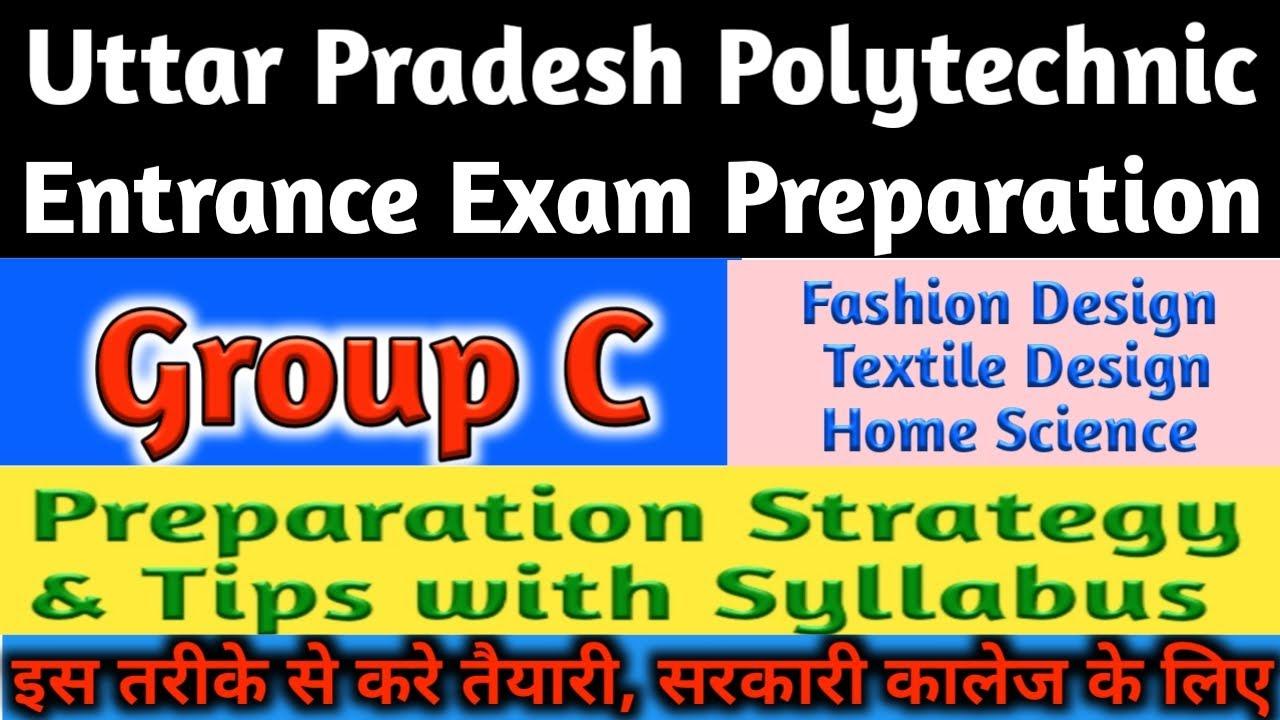 Up Polytechnic Entrance Exam Preparation 2020 Group C Fashion Designing Home Science Youtube