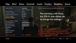 GTA4 - Commandline.txt that fixes Graphics Settings Error