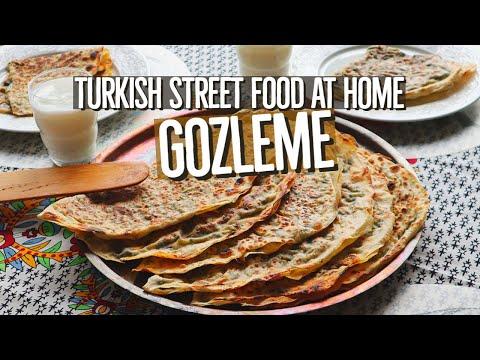 Turkish Gozleme Spinach & Feta / Turkish Street Food At Home