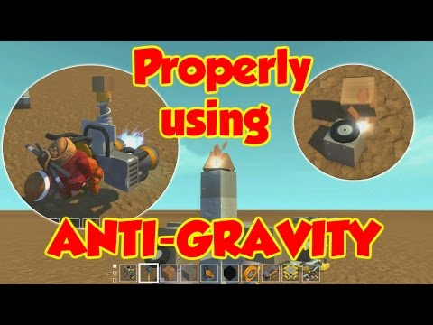 Tricks for using AntiGravity Glitches! - Scrap Mechanic