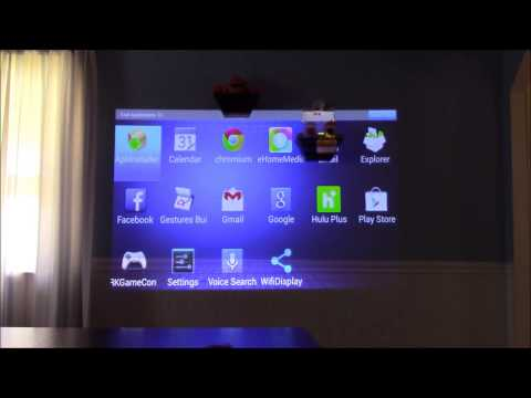 Aaxa Technologies LED Android Projector Menu Settings