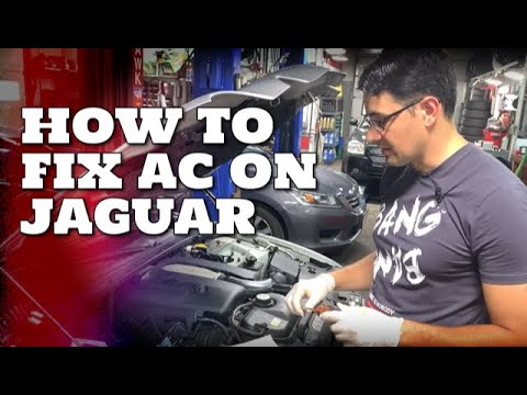 How to fix AC on Jaguar S-Type or S-Type R with 2 paper clips!