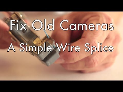 hqdefault fix old cameras simple wire splice youtube