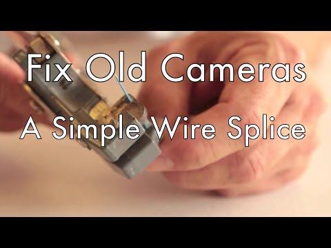 Fix Old Cameras Simple Wire Splice - YouTube