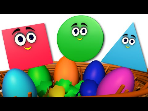 the shapes song | learn shapes | surprise eggs | nursery rhymes | kids songs | kids tv nursery rhyme
