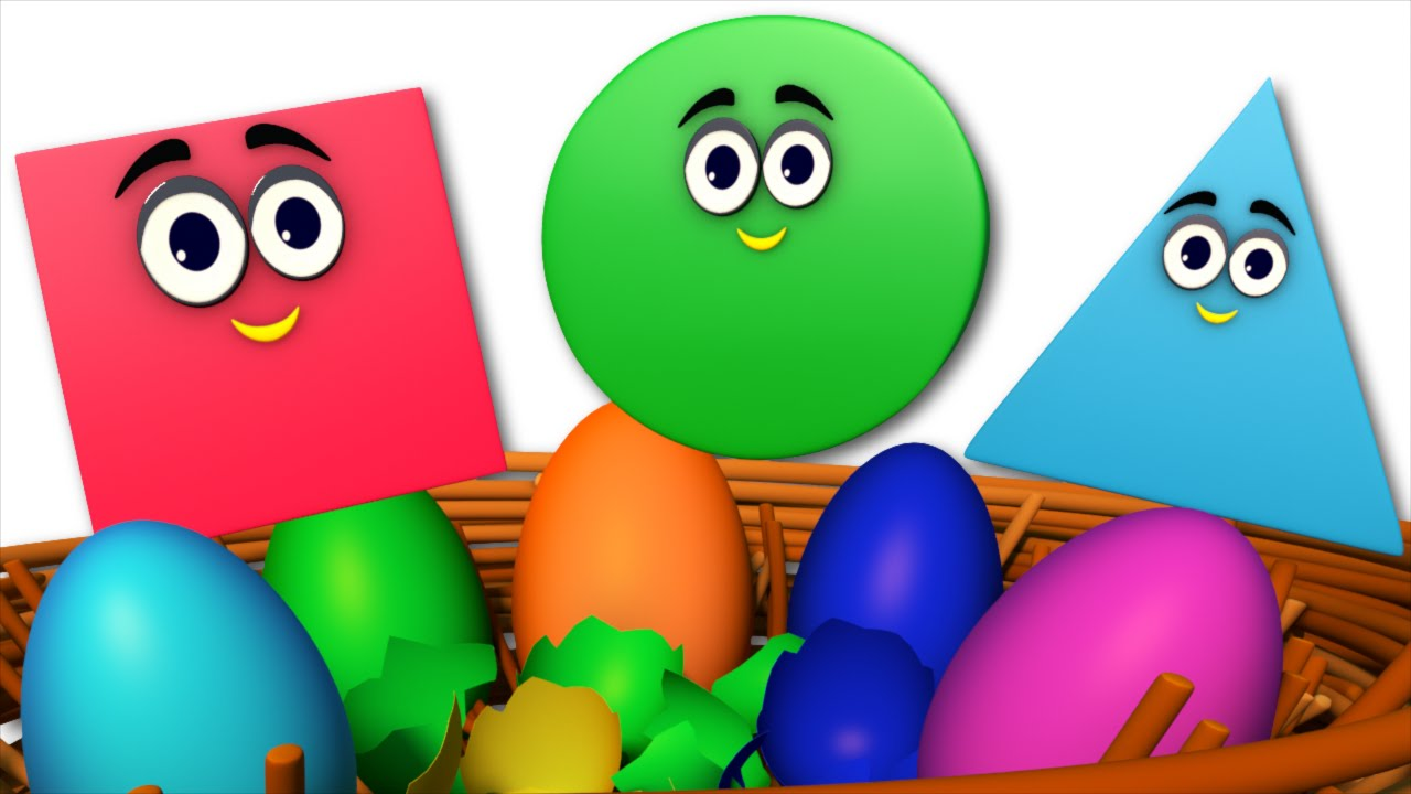 the shapes song | learn shapes | surprise eggs | nursery rhymes ...