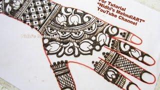 Download easy morrocan henna mehndi lotus in circular designs bridal designer lotus flower negative space bridal henna mehndi design tutorial mightylinksfo