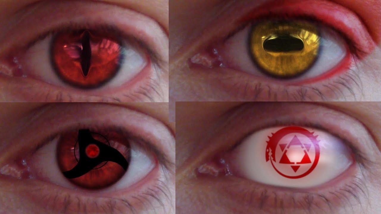 REAL LIFE Anime Eyes 2 Mangekyou Jagan Sennin