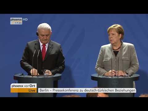Pressekonferenz mit Angela Merkel und Binali Yildirim am 15.02.18
