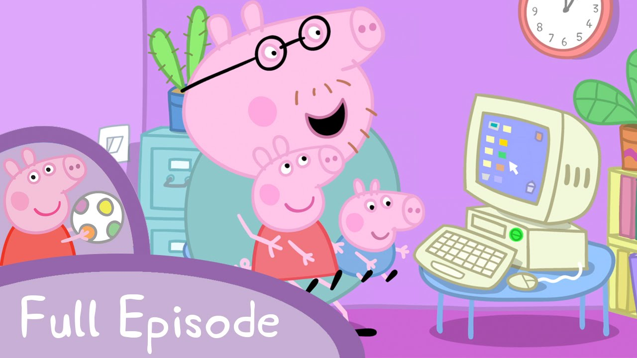peppa pig mummy pig at work