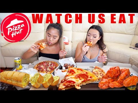 PIZZA HUT & WINGS MUKBANG! // Watch Us Eat   THERESATRENDS thumbnail