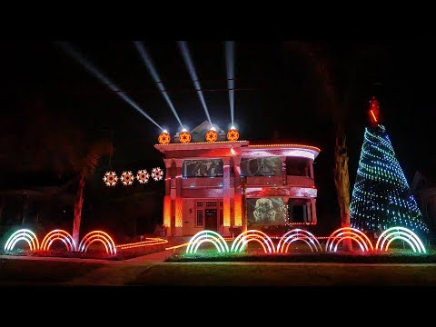 2017 Star Wars Christmas Light Show - A Dubstep EDM Cover of Darth Vader's Imperial March