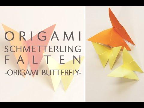 Origami Schmetterling Basteln 90 Sekunden Anleitung Zum