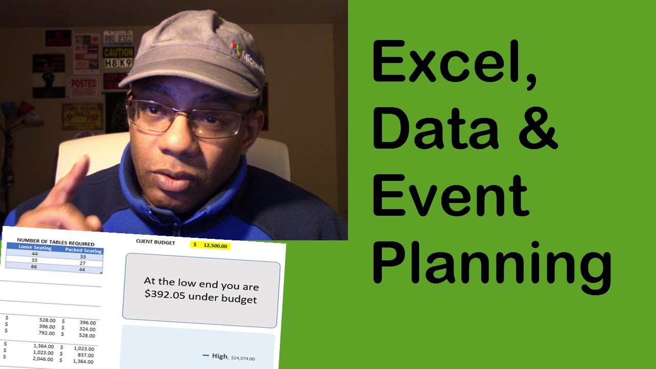 event planning budgeting and organizing a guest list with excel