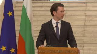 Борисов и Курц: 2018 ще бъде година на Българо-австрийското председателство на Съвета на ЕС