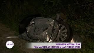 Hárman meghaltak egy vasúti átjáróban Nagymarosnál