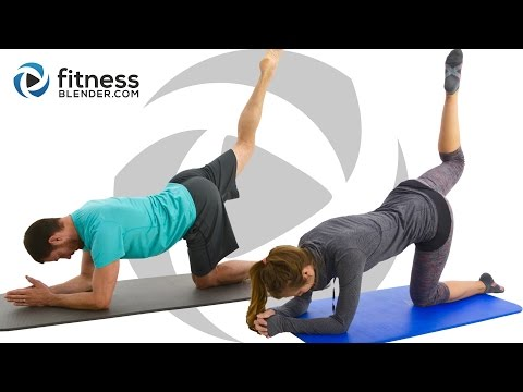 Pilates Abs, Butt and Thigh Workout - Intense Pilates Workout for Lower Body & Core