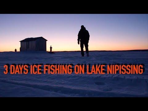 3 Days Ice Fishing On Lake Nipissing