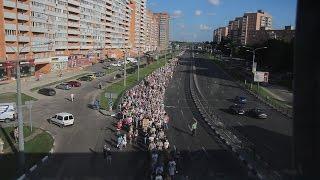 Всеукраинский крестный ход прошел через Харьков(Всеукраинский крестный ход прошел через Харьков. Более 3000 человек приняло в нем участие. Крестный ход начал..., 2016-07-09T19:34:08.000Z)