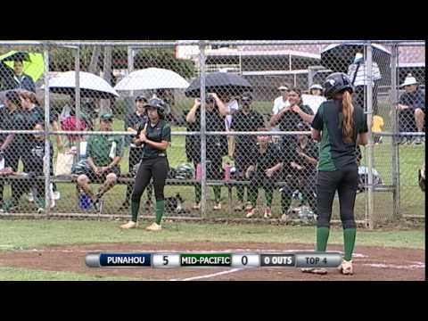 2015 Softball: Punahou vs. Mid-Pacific Institute (March 25, 2015)