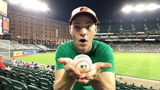 Catching my 70th GAME HOME RUN at Camden Yards