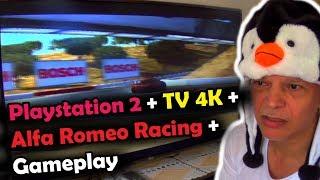 Playstation 2 + TV 4K + Alfa Romeo Racing + Gameplay.