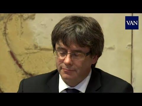 Declaración independencia Catalunya: Puigdemont serio horas antes