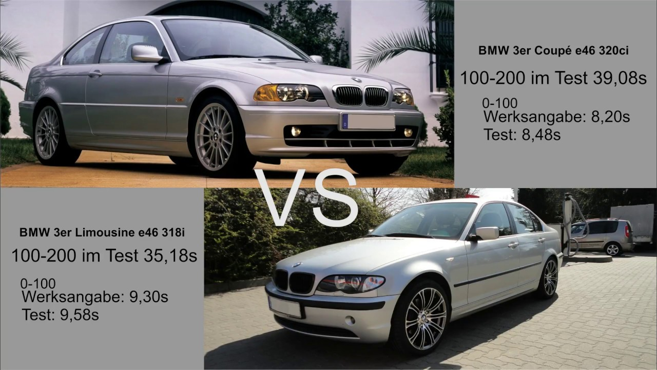 Sedan Vs Coupe >> 0-200 BMW e46 320ci 2,2L M54 VS 318i 2,0L N42 || 6 zyl VS 4 zyl - YouTube