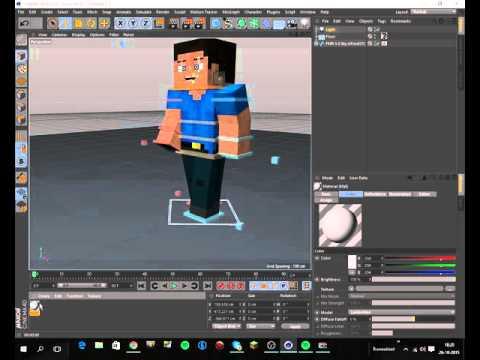 Hoe maak je Minecraft animaties in Cinema 4D! #1 Minecraft Steve rig.