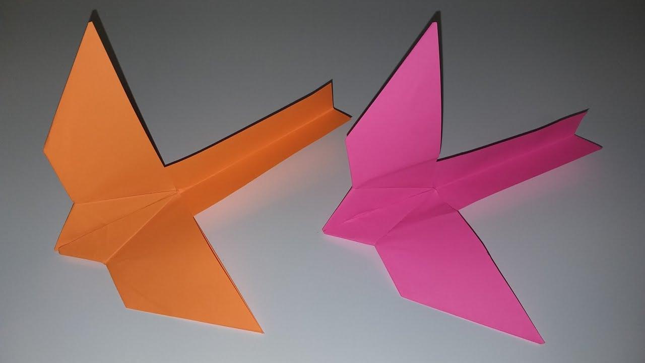 Как сделать ЛЕТАЮЩУЮ ПТИЦУ из бумаги. Птица оригами своими ...