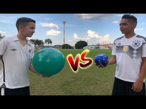 DESAFIO MINIBOLA vs BIGBOLA (Aladdin e Bolivia em DESAFIOS DE FUTEBOL)