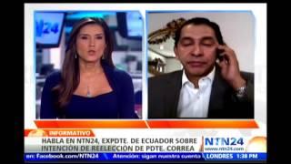"""""""Reelección indefinida sería estocada final a la moribunda democracia ecuatoriana"""": Lucio Gutiérrez"""