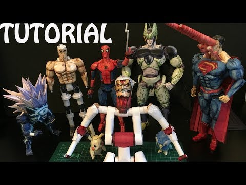 How To Make A PAPER ACTION FIGURE ep. 1 -  Frame & Articulation (Tutorial)