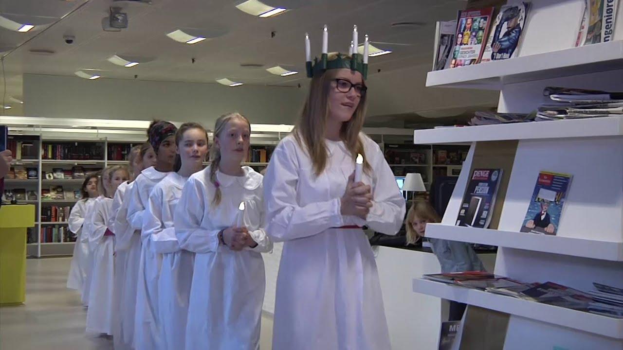 Luciaoptog på biblioteket - TV-Ishøj
