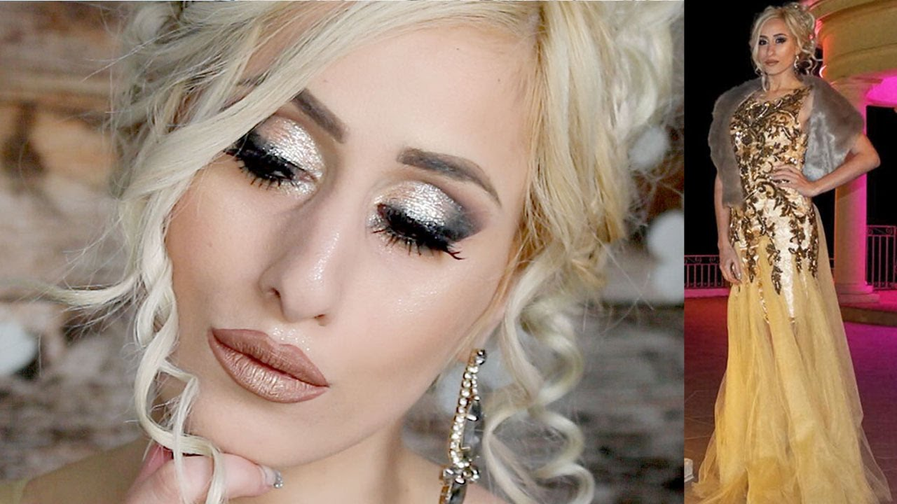 GREEK GODDESS Makeup Tutorial  Makeup for a Gold Dress  DYNA