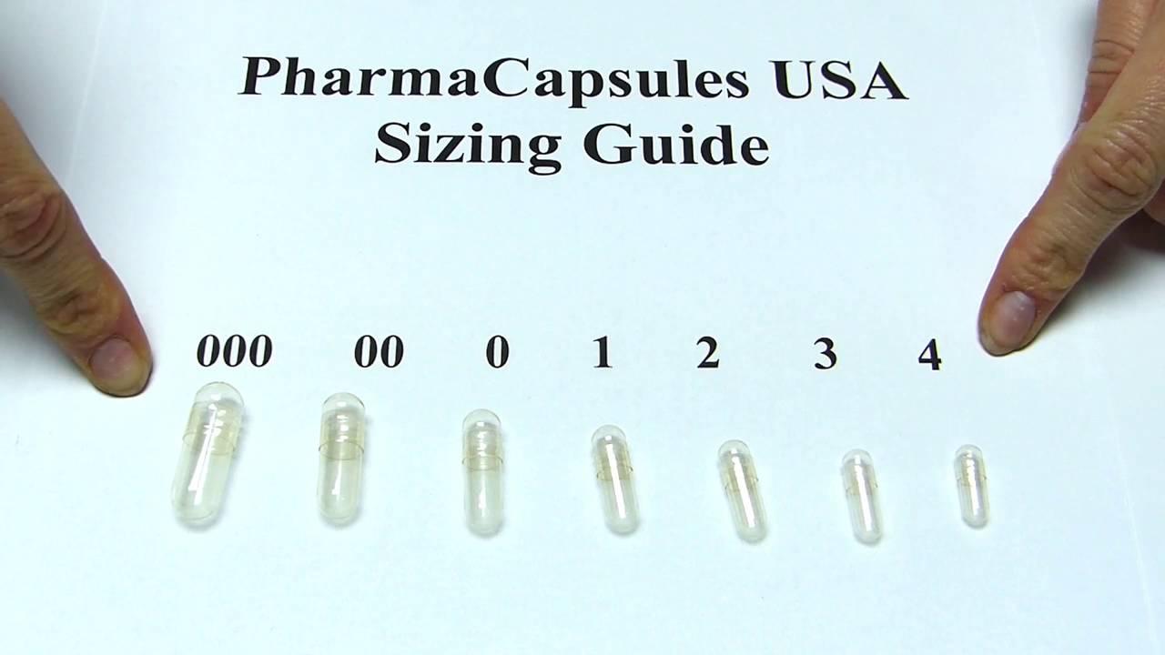 Capsule Sizing Chart Gelatin Capsule Size Guide - YouTube