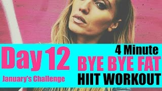 BYE BYE FAT HIIT WORKOUT -JUST 4 MINUTES & THREE TOTAL BODY MOVES-suitable for every fitness level L