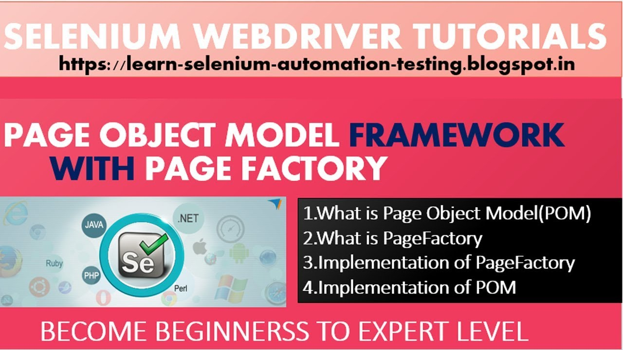 Selenium Tutorial - Page object model in selenium webdriver with examples