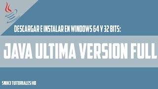 Descargar E Instalar Java Full v 3.8 | By_Snik3