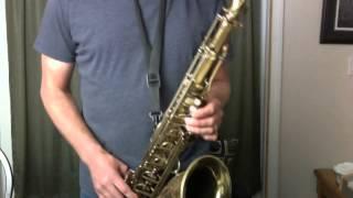 Cool A7 Altissimo Blues Lines Sax Lesson Clip