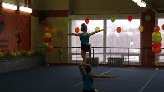 Спортивная акробатика. Смешанная пара. 1-ый юношеский разряд.